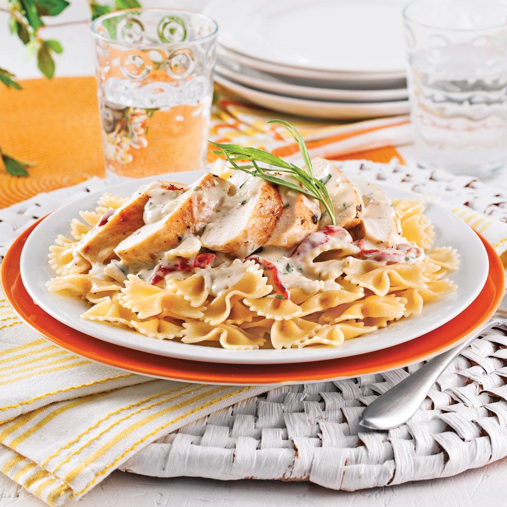 Farfalles au poulet et poivrons grill s soupers de - Cuisiner les poivrons ...