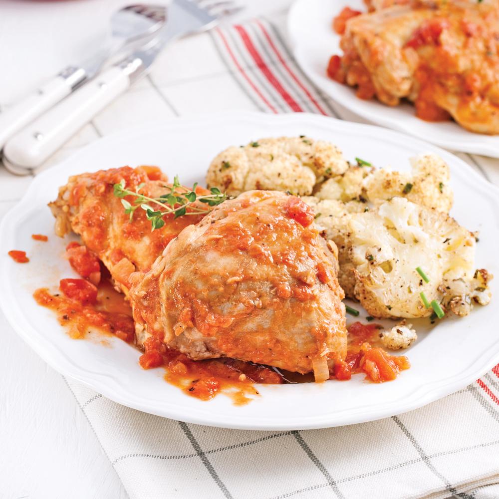Hauts de cuisses brais s la bi re et aux tomates - Cuisse de poulet calories ...