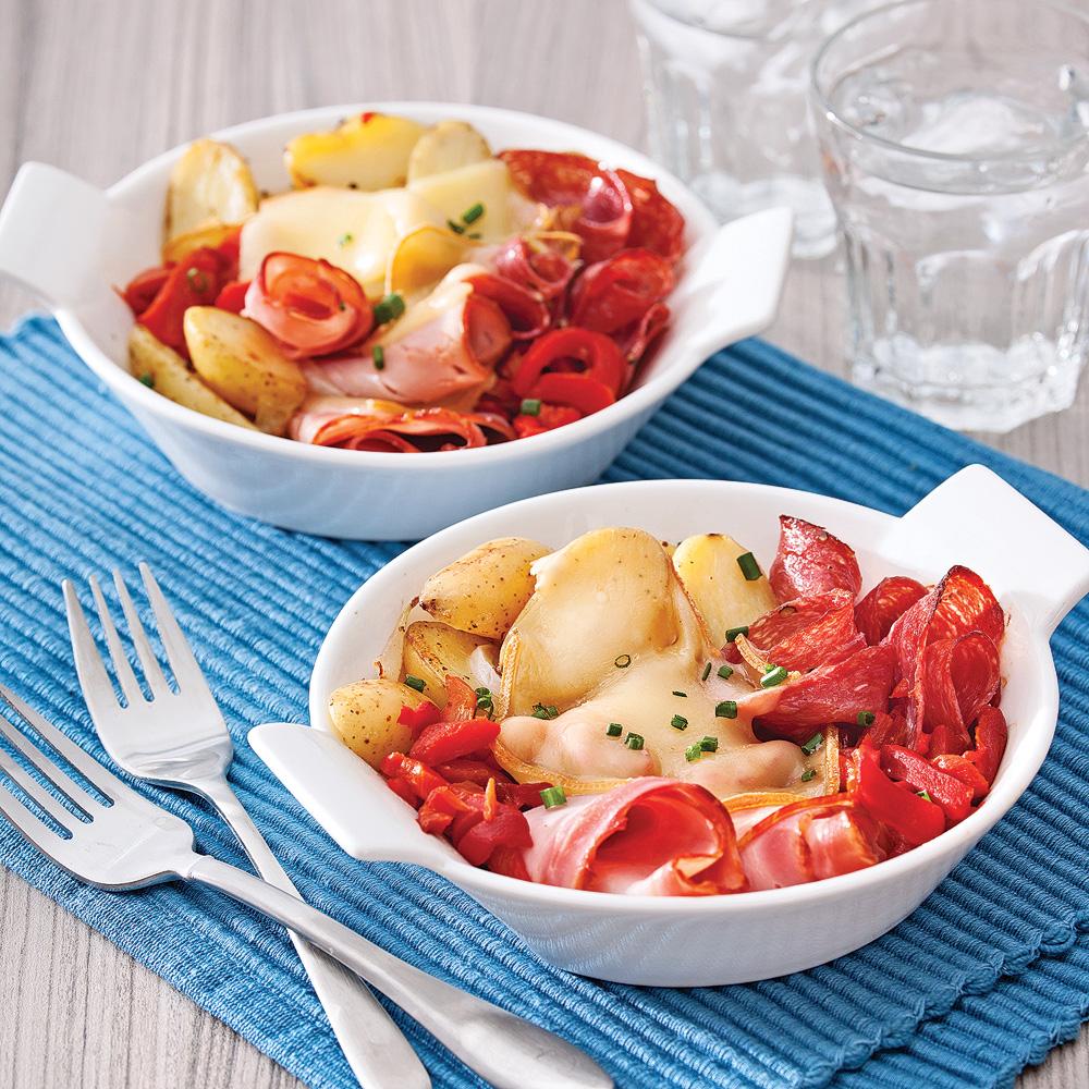 Raclette au four dans sa cassolette brunchs recettes 5 for Accompagnement cuisine