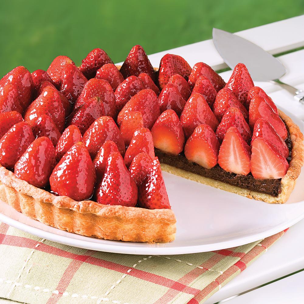 Tarte chocolat et fraises recettes cuisine et nutrition pratico pratique - Recette tarte aux chocolat ...